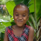 En liten jente ved navn Amina.