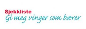 Logo sjekkliste Gi meg vinger som bærer.