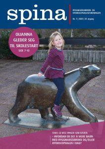 Forsiden til medlemsbladet Spina nr. 1 2020