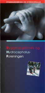 Forside til brosjyren Ryggmargsbrokk og Hydrocephalus-foreningen