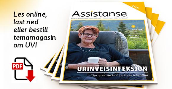 Annonse Coloplasts blad Assistanse. Les online, last ned eller bestill temamagasin om urinveisinfeksjon