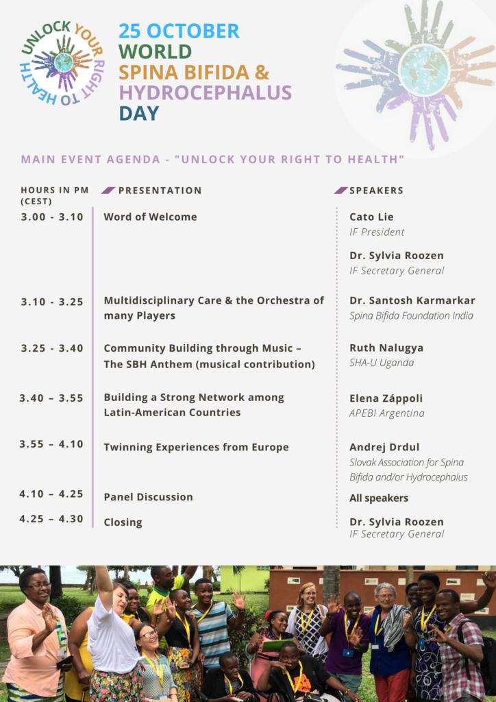 Program World Spina Bifida and Hydrocephalus Day.